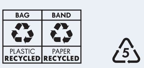 New recycling label on packaging